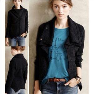 Anthro Sparrow Wool Drape Cardigan Coat Sz M